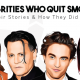 Celebrities who quits smoking