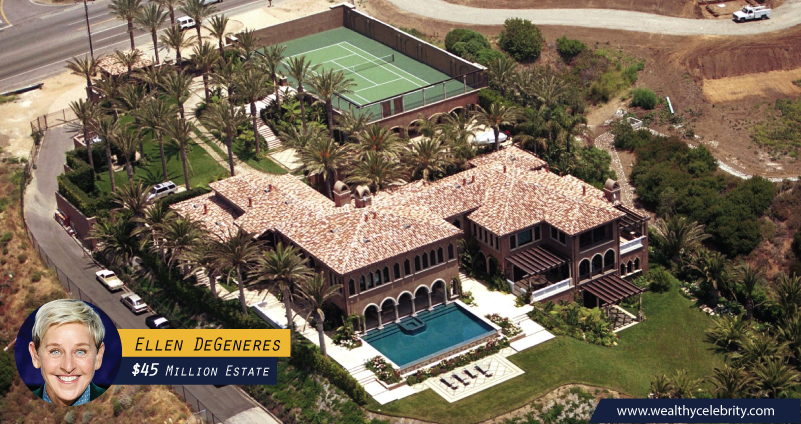 Ellen DeGeneres 45 Million Dollar Estate
