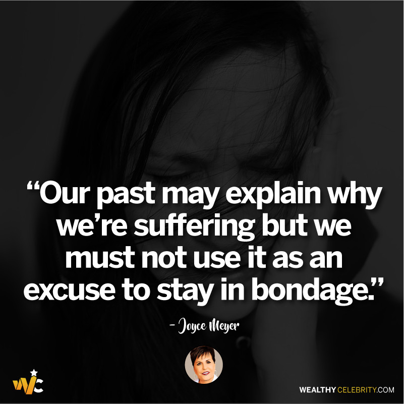 Joyce Meyer quotes about life and being tied to past