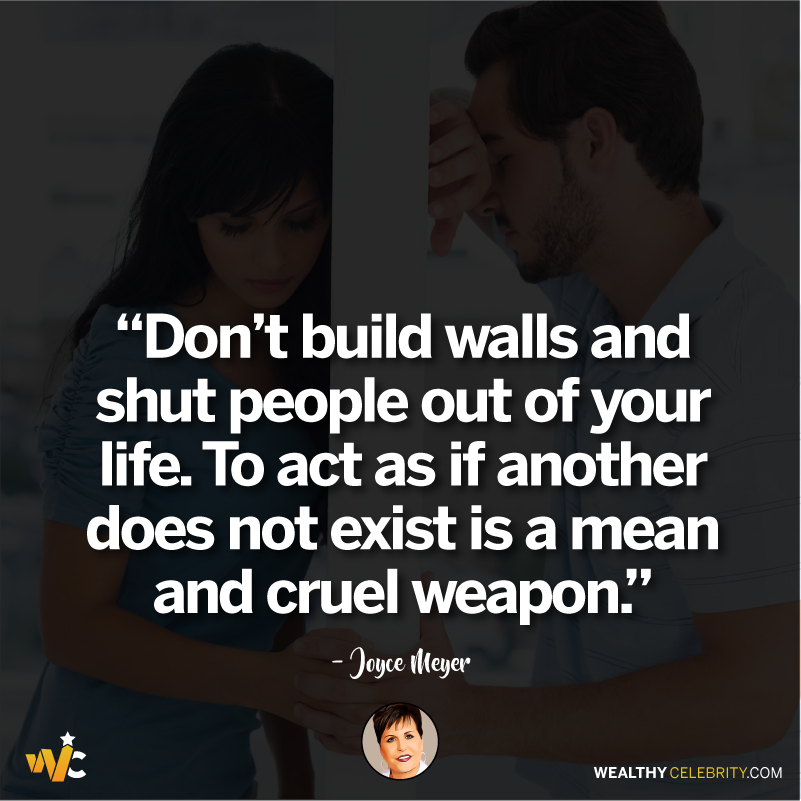 Joyce Meyer quotes about love and building walls between people