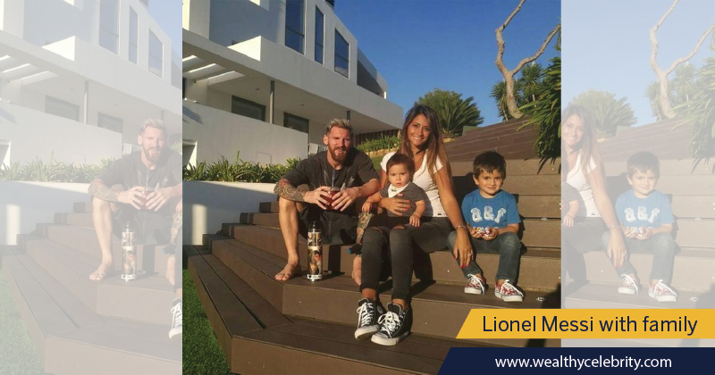 Lionel Messi House - Messi with Family