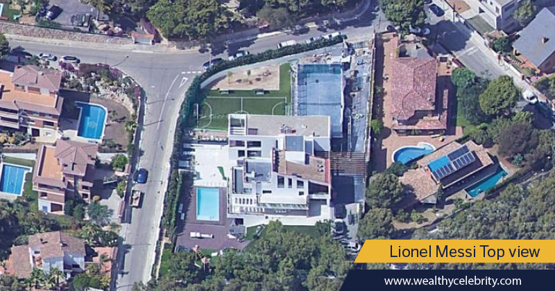 Lionel Messi House - bird eye top view
