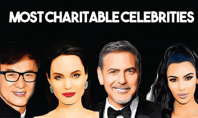 Top 10 most charitable celebrities