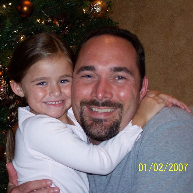 Megan Nutt With Her Father