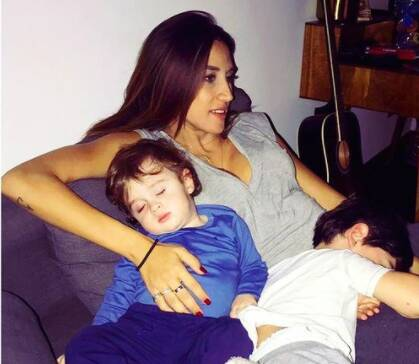 Roubah Saadeh with both of her cute sons.